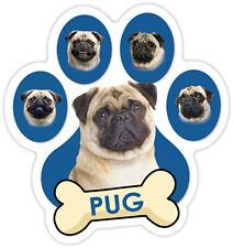 PUG  DOG PAW Car Magnet  QUALITY