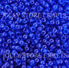 Translucent Dark Sapphire 7x4mm mini Pony Beads 1000pc USA for crafts school kid