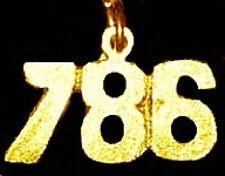 LOOK Gold Plated Allah Muslim Islam 786 Pendant Charm Silver