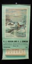 1948 RC Hudson & AJ Comeau Magneto Advertising Calendar Aylesford Nova Scotia NS
