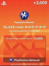 Sony Playstation Network PSN PS4 PS3 PSV Japan 3000 Yen NEUF