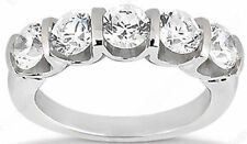 "1.75 carat total 5 Round Diamond Anniversary Band ""U"" Shape Ring 0.35 carat each"