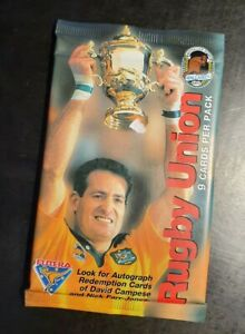 1995 AUSTRALIA RUGBY UNION 🏉 SEALED PACK OF 9 CARDS - LOOK FOR AUTO'S