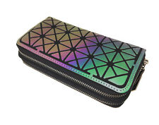 Women's Purse Wallet Clutch Bag Coin Purse Rainbow Reflect Luminous Geometric