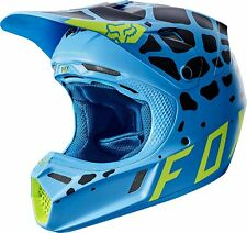 Fox Racing V3 GRAV Helmet [Blue] Large