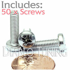 M4 x 16mm - Qty 50 - Stainless Steel Phillips Pan Head Machine Screws DIN 7985 A