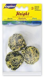 Hagen Laguna Pond 3 Poly Stones Anchor Small Weights With Cord Pet Decor Rock