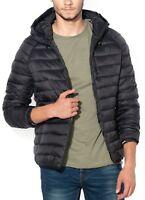 Jack & Jones Mens Quilt Puffer Jacket Padded Warm Hooded Outdoor Coat Black