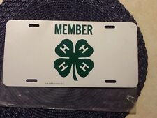 (4) Four Leaf Clover~ Green On White Plastic License plate Ships FREE