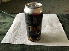 Craft Beer Ritual Night Stout 16 oz bottom opened empty beer can.