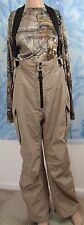Frabill Adults' F-1 beige Rain Pants with cargo pockets, size L