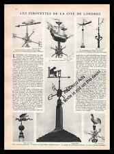 1931 London weathervanes , Les girouettes de Londres