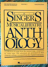New! SINGER'S MUSICAL THEATRE ANTHOLOGY VOLUME 2 BARI BASS Vocal Book HL00747033
