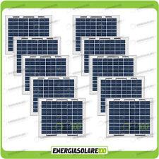Stock 10 Pannelli Solari Fotovoltaici 5W 12V multiuso Pmax 50W