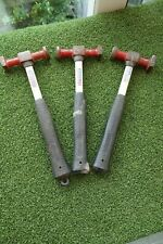 3 X SEALEY RUBBER HANDLED PANEL BEATERS HAMMERS