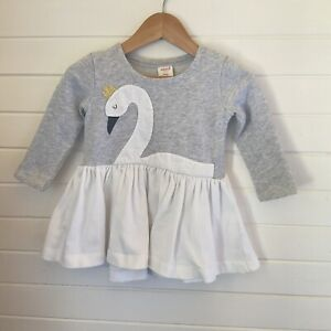 Seed Baby Long Sleeved Swan Dress - Size 0 / 6-12 months