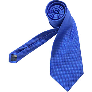 Harold Powell Tie Blue Grenadine Neck Tie 100% Silk Made In USA  Long Tie 62