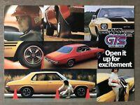 1973 Holden Monaro GTS 2 door + 4 door original Australian sales brochure