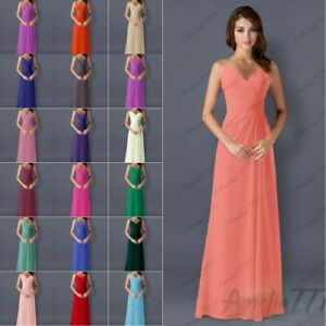 Bridesmaid Dress Long One Shoulder Formal Prom Evening Party Wedding Gowns 6-26