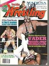 Eb2101 Medusa Vader Sting signed Wrestling History Magazine w/Coa *Bonus*