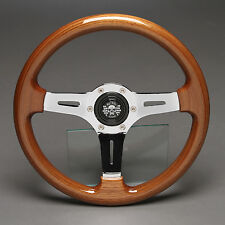 Holzlenkrad Sportlenkrad Chrom 330mm Nabe Mazda MX3 MX5 MX6 121 323 RX-7 626 929
