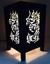 Thai Vintage Handmade Asian Oriental China  Dragon Bedside Table Light