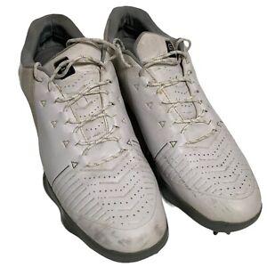 Under Armour Men's Spieth 2 Golf Shoes Goretex White Navy 3000165-101 Sz 10.5
