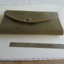 "FLY FISHING VINTAGE  CANVAS  POUCH   4 FELT PAGES   7"":X 3 ¾"""