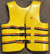 Vintage 1989 Adult Cypress Gardens Life Jacket Ski Vest Flotation Device Yellow