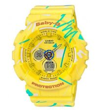 Casio Baby-G * BA120SC-9A Graffiti Design Yellow Anadigi Women COD PayPal