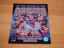 NY Rangers All Time Greats Officially LICENSED 8X10 Photo FREE SHIPPING 3/more