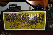 Vintage Impressionist Silkscreen Print-NYC Urban Buildings-Signed Numbered-ODD