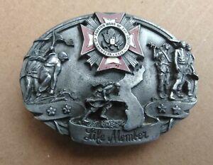 Honoring All Veterans of Foreign Wars Life Members 1987 Siskiyou Belt Buckle USA