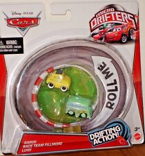 Cars Micro Drifters Sarge, Race Team Fillmore and Luigi with Drifting Action!