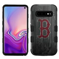 """for Samsung Galaxy S10 (6.1"""") Hard Impact Rugged Case Boston Red Sox #BW"""
