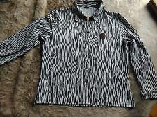 T Shirt Bluse Gr 42 weiß braun gemustert Top Zustand und Qualität