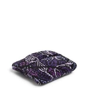 "Vera Bradley Fleece Travel Blanket 45""x 60"" Paisley Amethyst ~FREE SHIPPING~"