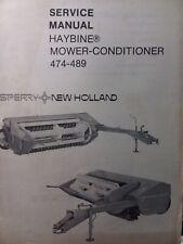 New Holland Sperry Haybine Hay Mower Conditioner 474 Thru 489 Service Manual