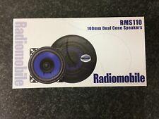 "RADIOMOBILE UNIVERSAL 4"" 100MM 10CM 70W 4OHM DUAL CONE CAR RADIO/STEREO SPEAKERS"