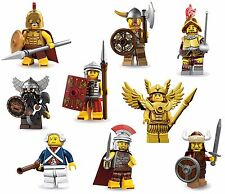 LEGO Minifigures Set 9 Warriors/Soldiers - Spartan+Roman+Dwarf+Conquistador+MORE
