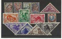Tanna Touva 1927-35 range of 13 used sg.15-19, 68-71, 74-7