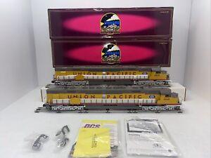 MTH Premier 20-2432-1 & 3 Union Pacific DD40AX Diesel Power&Dumm PS.2 O Used BCR