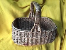 Vintage Old School Cookery Basket Wicker Woven Handle 1960's
