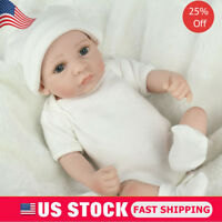 "Reborn Preemie Baby Boy Dolls 10"" Lifelike Soft Full Vinyl Silicone Doll Gifts"