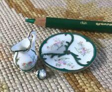 Bespaq Miniature Dollhouse Porcelain China Dish Vase Plate 595