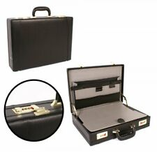 BRIEFCASE EXECUTIVE ATTACHE CASE PU LEATHER BUSINESS OFFICE EXPANDABLE DIVIDER