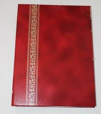 Vtg Red Foto Flip Photo Album Atlantic Binders Corp Brooklyn Strathmore 1970s