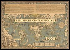 Central Africa 2019 WWII Atlantic charter map   silk  s/s imperf.