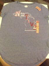 NWT Women's The Original State Of Mine Michigan T-Shirt Lt. Denim Blue Sz Medium