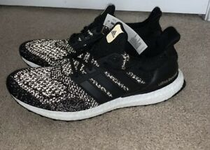 New ADIDAS ULTRA BOOST Limited BLACK RUNNING SHOES 10 AQ5561 Reflective